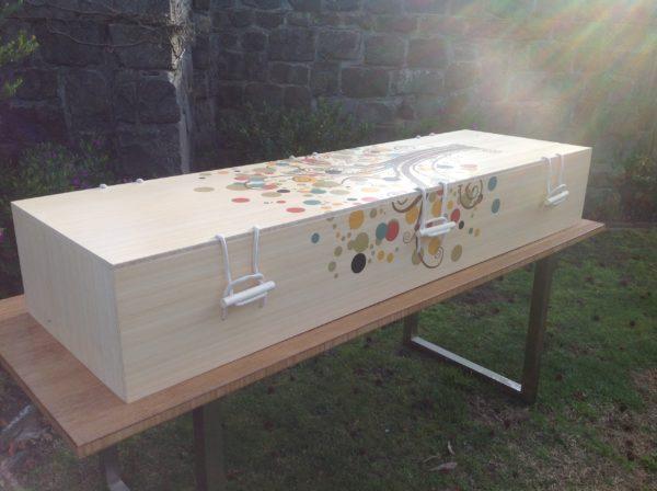 Australian made bamboo Parinda casket
